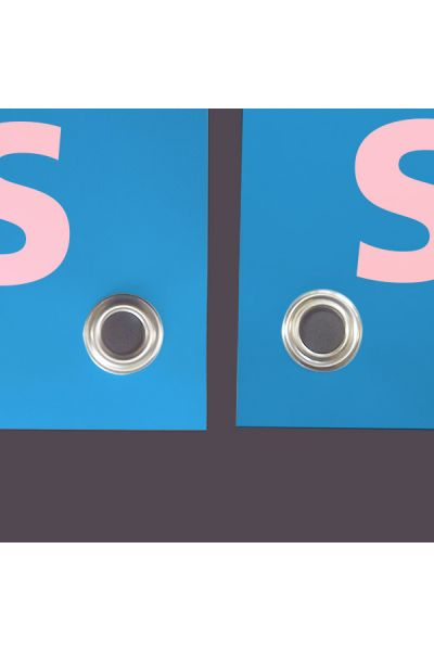 Doppelseitige Blockout-Blache zugeschnitten mit Oesen