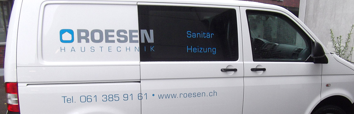 Autobeschriftung Roesen Haustechnik