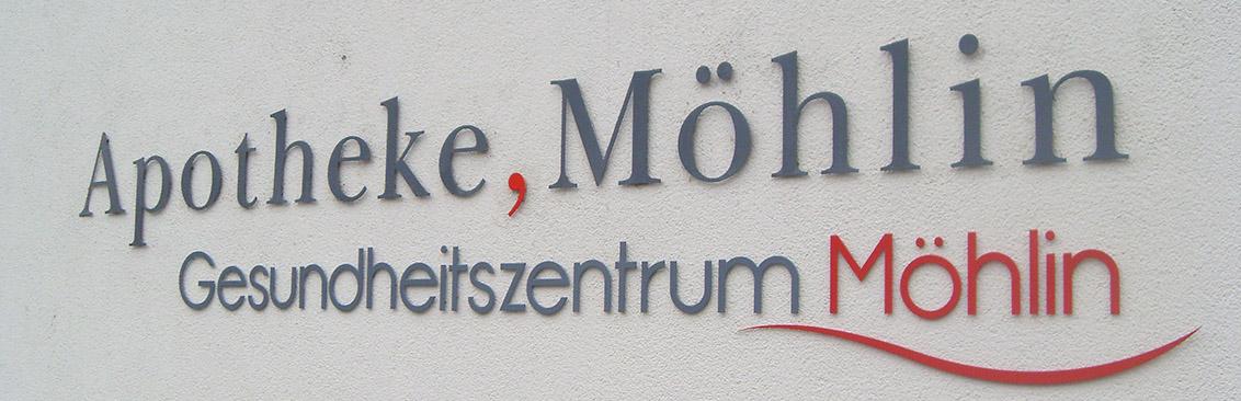 Firmenbeschriftung Apotheke Rohtrist