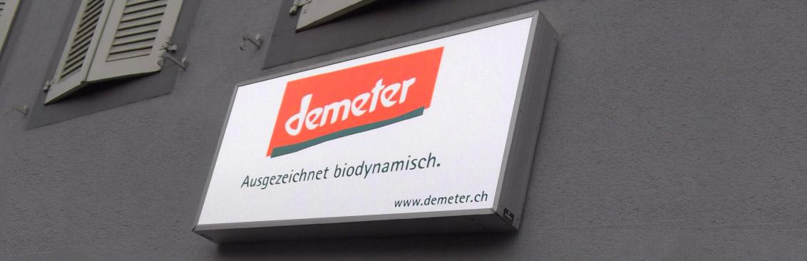 Firmenbeschriftung Stiftung Demeter