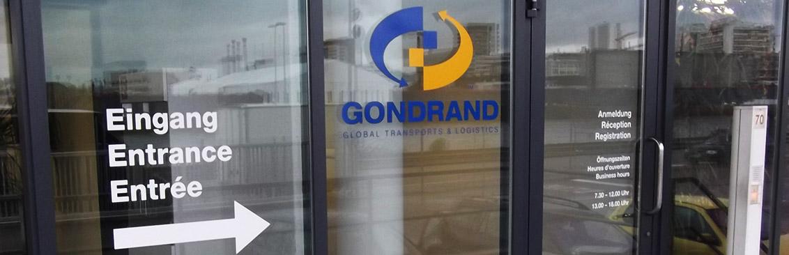 Firmenbeschriftung Gondrand
