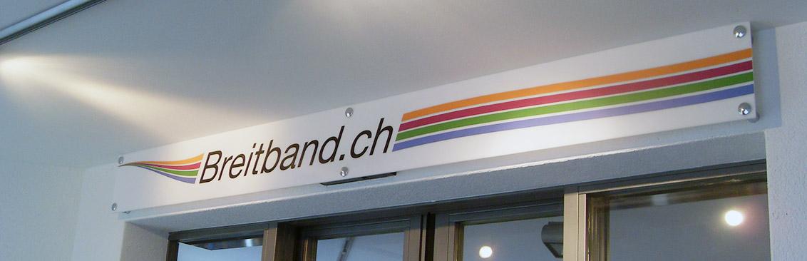 Firmenbeschriftung Breitband
