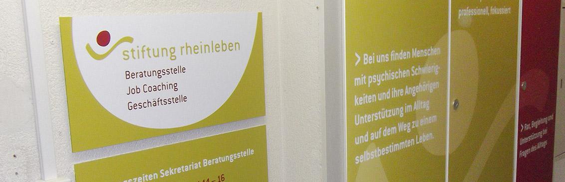 Firmenbeschriftung Stiftung Rheinleben