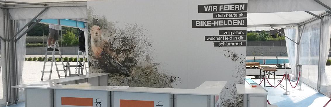 Aufbau Bikefestival