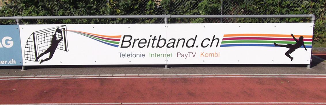Schild Sportanlage Breitband