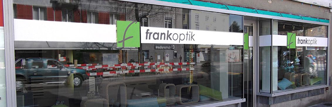 Schaufensterbeschriftung Frank Optik