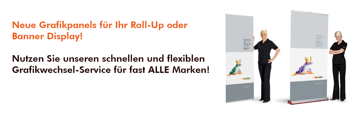 Grafikwechsel Roll-Up Displays