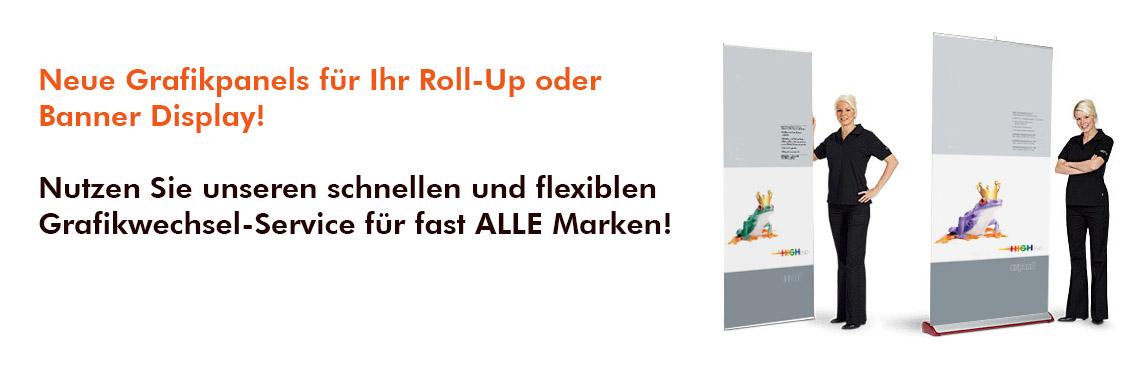 Grafikwechsel Roll-Up Displays