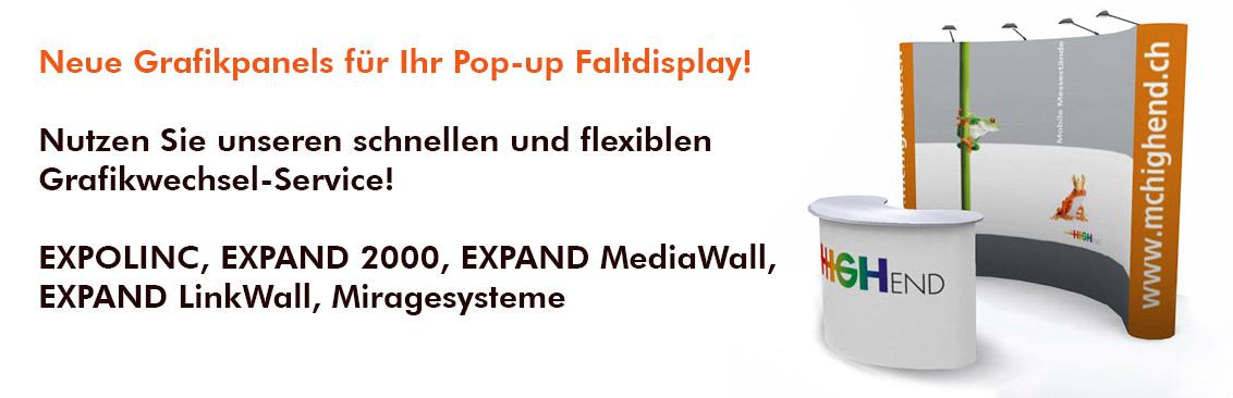 Grafikwechsel Pop-Up Displays