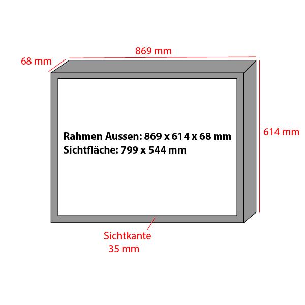 Backlite Rahmen